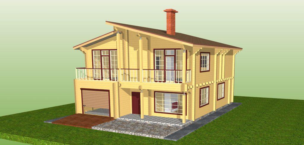 """Двухэтажный дом """"Маврия"""""""