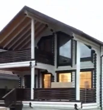 Дом сруб в Дагестане почти завершили строительство